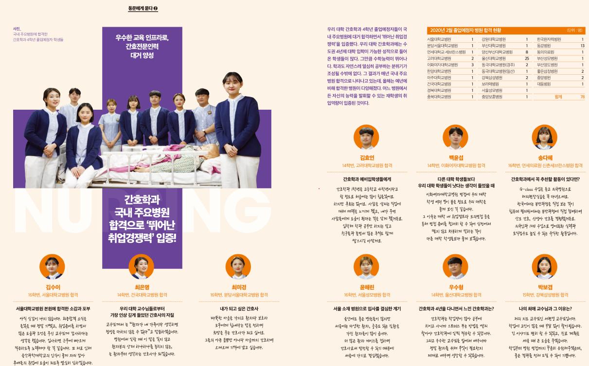 간호학과, '2019학년도 간호학과 연구 및 캡스톤 발표회' 개최